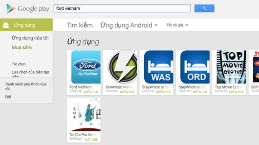 Ford Việt Nam ra mắt ứng dụng trên smartphone
